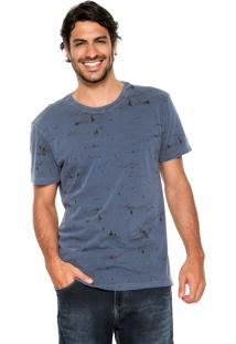 Camiseta Polo Wear Estampada Azul