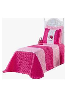 Cobre Leito Solteiro Mirela Kit Quarto Infantil 04 Pçs Pink