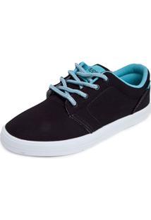 e8c15fc85ad ... Tênis Ride Skateboard Pespontos Preto Azul