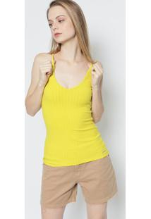 f2041e0b8 ... Blusa Canelada- Amarela- Colccicolcci