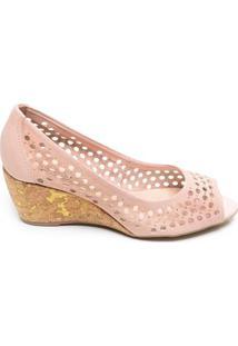Sapato Feminino Anabela Bottero Rosa Claro