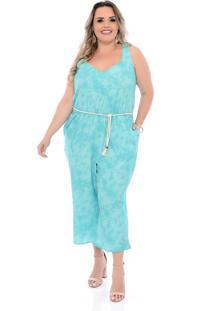 Macacã£O Plus Size Arimath Plus Pantacourt Tie Dye Verde - Verde - Feminino - Dafiti