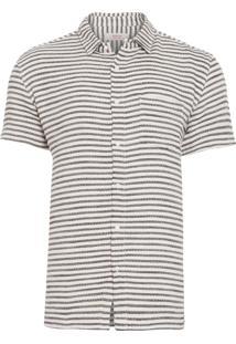 Camisa Masculina Rustic Stripes - Bege