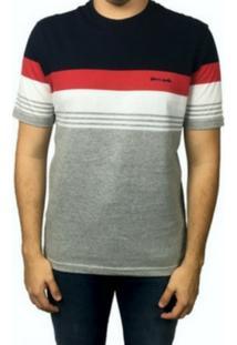 Camiseta Manga Curta Pierre Cardin Listrada