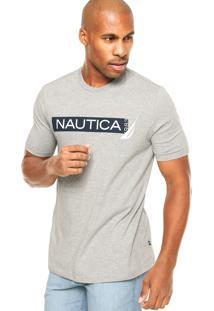 Camiseta Nautica Estampada Cinza