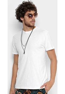 Camiseta Reserva Flamê Estonada Masculina - Masculino-Branco