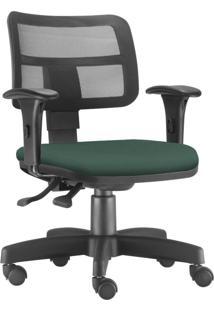 Cadeira Giratória Executiva Lyam Decor Zip Verde Musgo