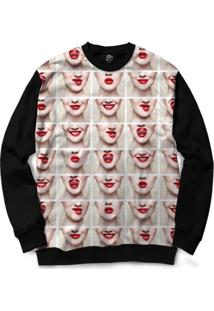Blusa Bsc Faces And Mouths Full Print - Masculino