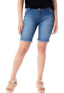 Bermuda Jeans Feminina Max Denim Azul - 36