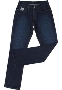 Calça Jeans Cinch Silver Label Slim Fit Masculina - Masculino-Azul Escuro