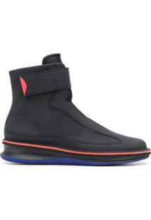 Camper Lab Ankle Boot 'Rolling' De Couro - Preto