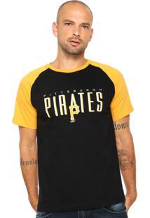 Camiseta New Era Pittsburgh Pirates Preta/Amarela