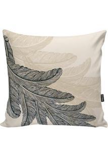 Capa Para Almofada Feathers- Off White & Preta- 45X4Stm Home