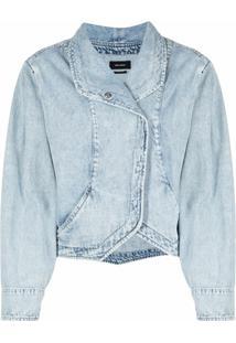 Isabel Marant Jaqueta Jeans Com Botões De Pressão - Azul