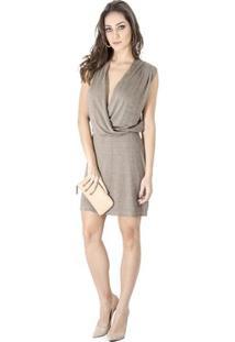 Vestido Cache Coeur Calvin Klein - Feminino-Cinza