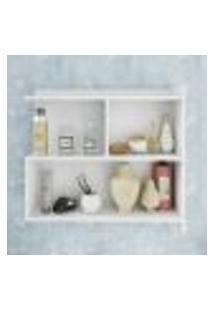 Espelho Para Banheiro Com Porta E Prateleiras Lis Cor Branco