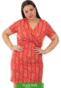 Vestido Estampado Vermelho Cativa Mais
