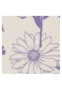 Papel De Parede Harmonia Bege Lilás Flores L01 9123 Bobinex