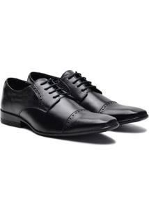 Sapato Social Couro Sartre Masculino - Masculino-Preto