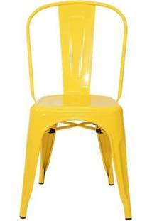Cadeira Tolix Aço Carbono - Cor Amarela