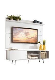 Rack Madesa Dubai E Painel Para Tv Até 65 Polegadas Com Pés - Branco Branco
