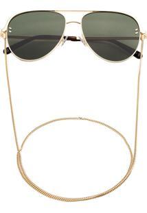 Stella Mccartney Eyewear Óculos De Sol Aviador - Dourado