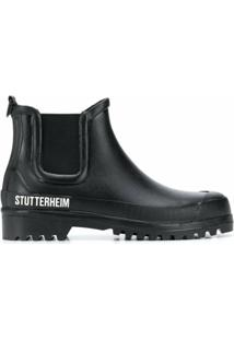 Stutterheim Bota Chelsea Chunky Com Estampa De Logo - Preto