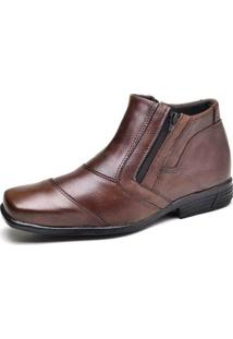 Bota Social Top Franca Shoes - Masculino-Marrom