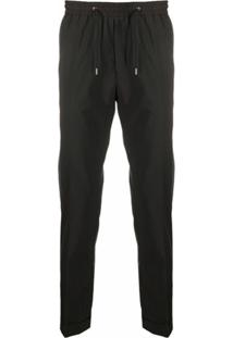 Paul Smith Drawstring Straight Leg Trousers - Preto