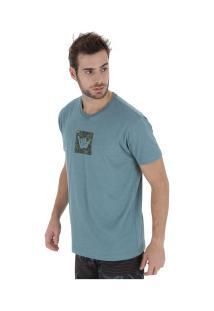 Camiseta Hang Loose Camou - Masculina - Azul/Cinza