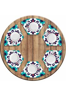 Jogo Americano Love Decor Para Mesa Redonda Wevans Mandala Color Kit Com 6 Pçs