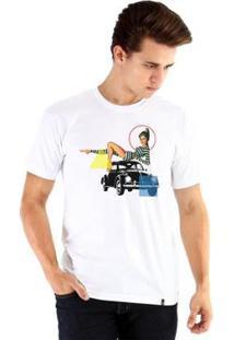 Camiseta Ouroboros Pinapbeatle1 Masculina - Masculino-Branco