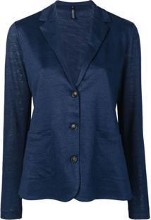 Woolrich Blazer De Tricô - Azul