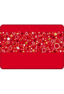 Tapete Sala Love Decor Elementos Natalinos Vermelho - Vermelho - Dafiti