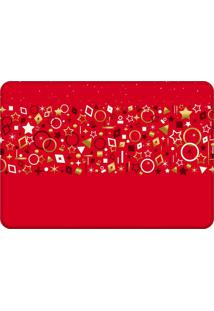 Tapete Sala Love Decor Elementos Natalinos Vermelho