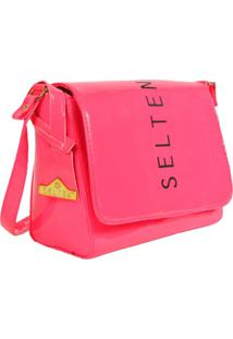 Bolsa Neon Transversal Rosa Pink Selten