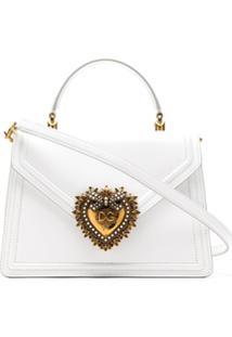 Dolce & Gabbana Bolsa De Couro - Branco