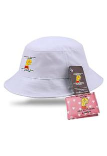 Bucket Moda Praia Chapeu Lisa Simpson Com Carteira Personalizada