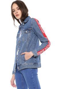 Jaqueta Jeans Calvin Klein Jeans Trucker Azul