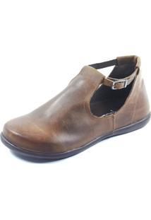 Sapato S2 Shoes Retrô Fivela Marrom