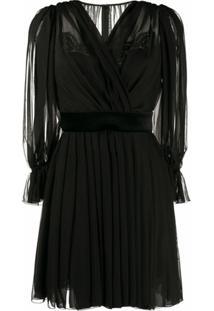 Dolce & Gabbana Vestido Drapeado - Preto