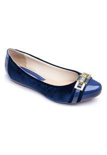 Sapatilha Feminina Casual Confortável Super Leve - Azul 3025