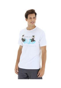 Camiseta Hurley Silk Island Hop - Masculina - Branco