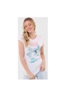 Camiseta Coca-Cola Jeans Refresh Branca