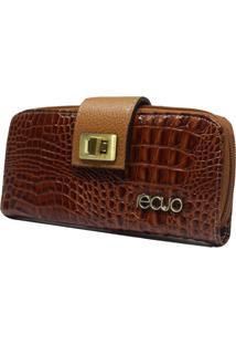 Carteira Em Couro Recuo Fashion Bag Pinhão