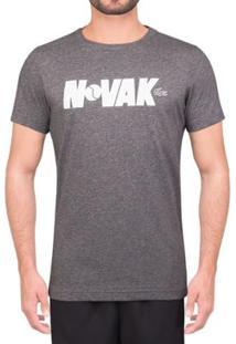 Camiseta Lacoste Novak Regular Fit Masculino - Masculino-Cinza