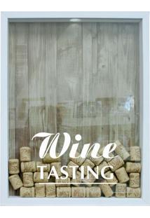 Quadro Porta Rolhas De Vinho Wine Tasting Branco