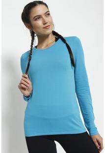 Blusa Com Recortes Vazados - Azul - Graphenegraphene