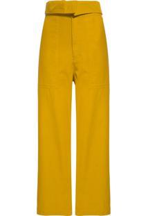 Calça Feminina Sarja Brooklyn - Amarelo
