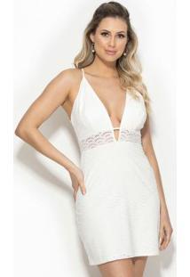 Vestido Em Laise Off White